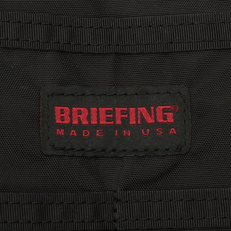 従来のBRIEFING商品に付けている織りネームは、内装に配置。