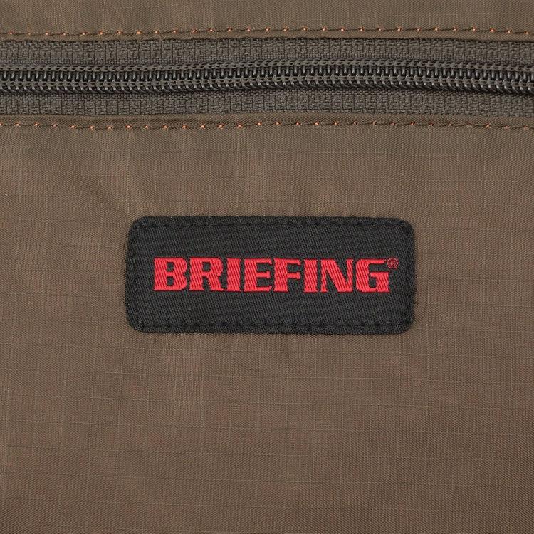 BRIEFINGで最もライト。軽量で強度に優れた70デニールリップストップナイロンを使用。
