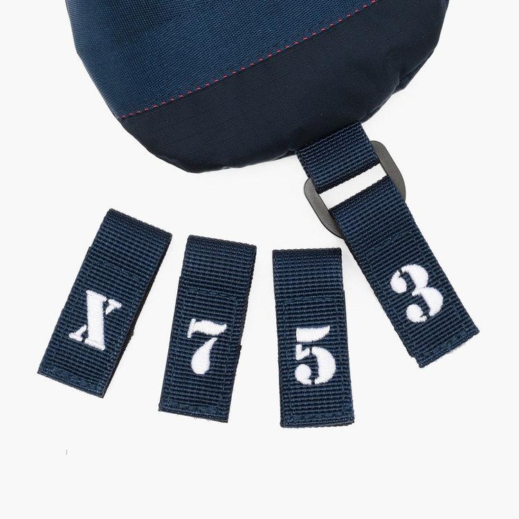 番手表示の文字パーツは「3」「5」「7」「X」が付属いたします。