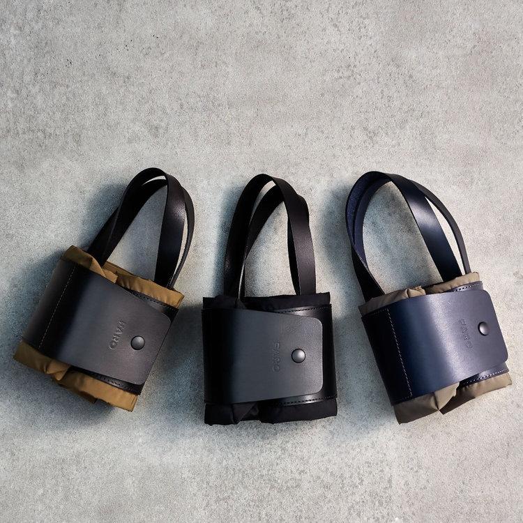 使わない時はくるくるとコンパクトに折りたたむ事ができ、サブバッグとしても使いやすい。